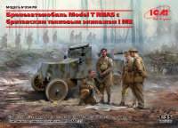 Model T RNAS Armoured Car c британским танковым экипажем I МВ