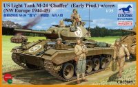 Танк  US Light Tank M-24 'Chaffee' (Early prod.) w/crew (NW Europe 1944-45) (1:35)