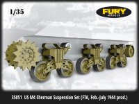 Ходовая часть танка US M4 Sherman Suspension Set (FTA, Feb.-July 1944 prod.)